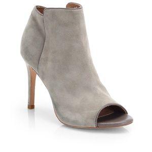 Joie Women's Gray Gwen Suede Opentoe Ankle Boots